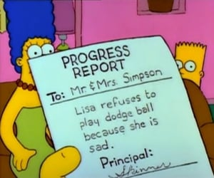 sad, the simpsons, and simpsons image