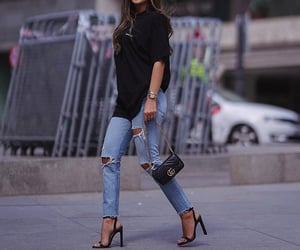 bag, jeans, and summer image