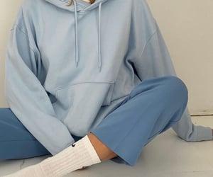 blue, fashion, and hoodie image