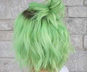 hair, dyed hair, and green hair image