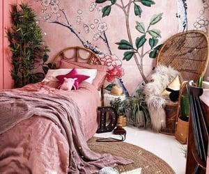 bedroom, boho, and interior image