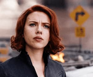 black widow, gif, and Scarlett Johansson image