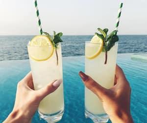 drink, lemon, and summer image