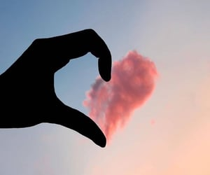 clouds, love, and heart image