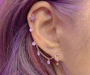 accessories, earring, and purple image