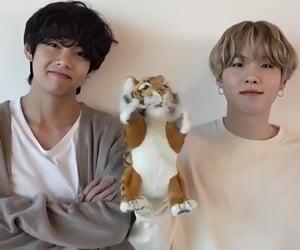 bts, min yoongi, and kim taehyung image