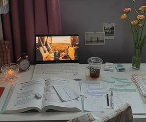 desk, study, and work image