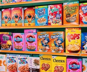 aesthetic, cereal, and theme image