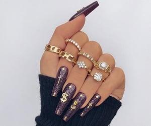 nails, style, and acrylic image