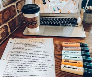 study, school, and coffee image
