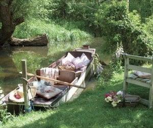 nature, green, and picnic image