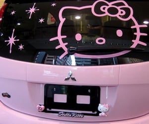 hello kitty, pink, and theme image