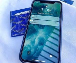 Bleu, gmail, and iphone image