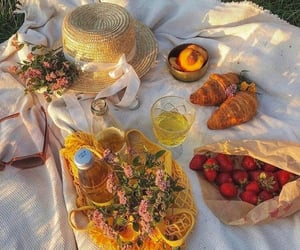 picnic, food, and strawberry image