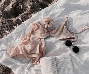 fashion, beach, and book image