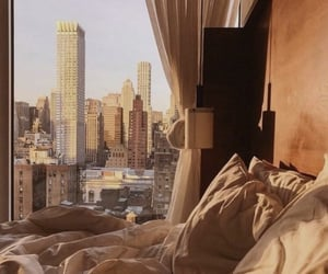 city, bedroom, and view image