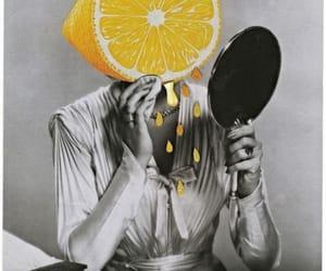 art, Collage, and lemon image