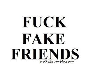 fuck, Relationship, and fake friends image