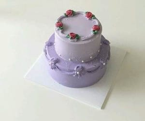 aesthetic, purple, and cake image