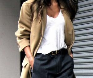coat, fashion, and pants image