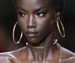 makeup, model, and black image