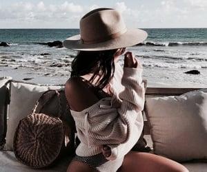 bag, beach, and hats image