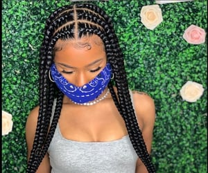 braids, pop smoke braids, and hairstyle image