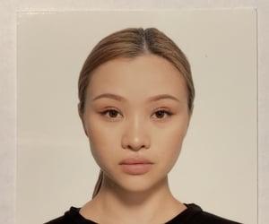 blonde, make up, and face shot image