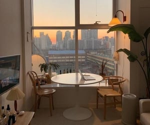 home, apartment, and sunset image