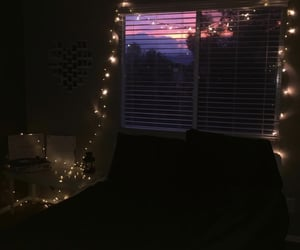aesthetic, fairylights, and bedroom image