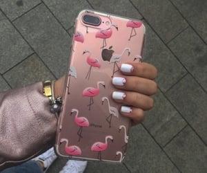 pink, gold, and nails image