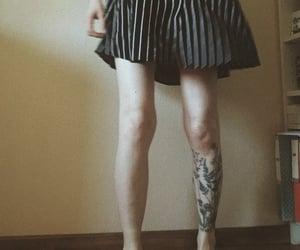girl, leg, and vintage image