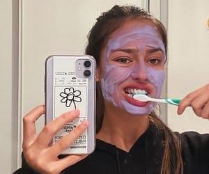 aesthetic, girl, and mask image
