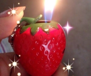 aesthetic, strawberry, and red image