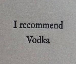 vodka, quotes, and drink image