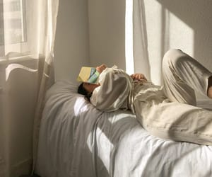 bed, books, and chillin image