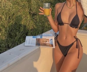 bikini, fashion, and motivation image
