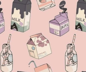 milk, wallpaper, and pink image