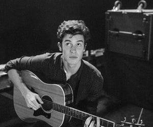 shawn mendes, guitar, and black and white image