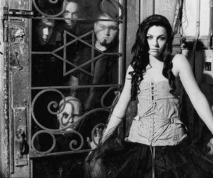 black and white, fuck, and evanescence image