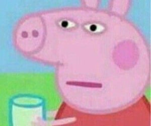 meme, peppa pig, and reaction image