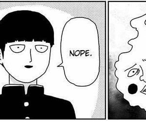 anime, dimple, and mob image