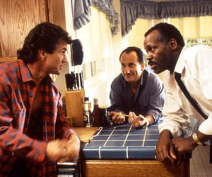 danny glover, lethal weapon, and mel gibson image