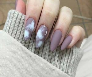 nails, moon, and clouds image