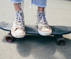 converse, fashion, and skateboard image