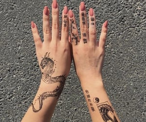 tattoo, beauty, and nails image
