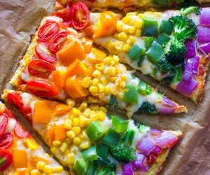 pizza, healthy, and food image