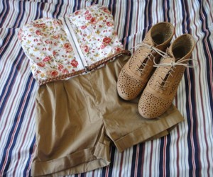 fashion, shorts, and shoes image