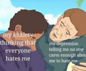 anxiety, caps, and depression image