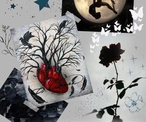 rose, thorns, and чёрный фон image